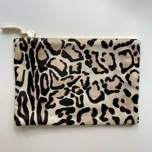 Clare V Snow Leopard Clutch